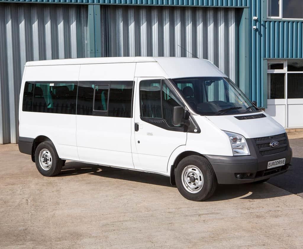 ford white minibus