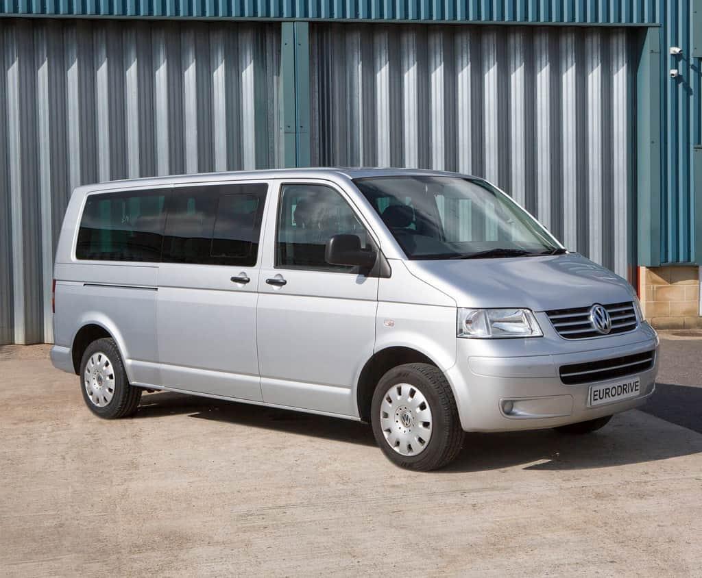 gray minibus