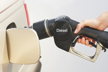 filling a car up with diesel
